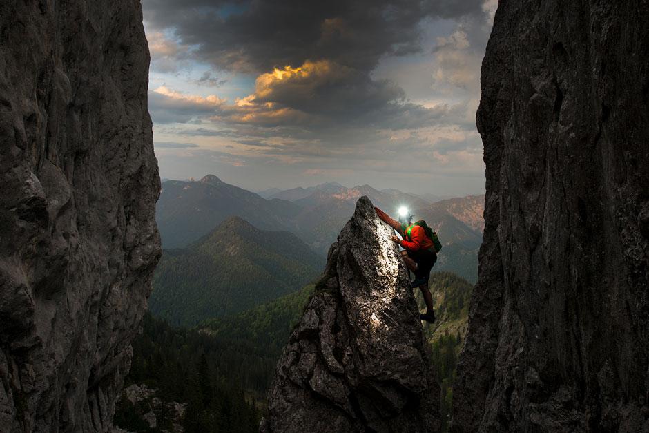 Lupine Helmlampe Klettern Gebirge