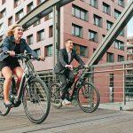 Bergamont E-Ville auf Tour durch Hamburg