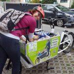 Urban Arrow Einkäufe werden verstaut