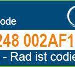 Codiercode Fahrradcodierung