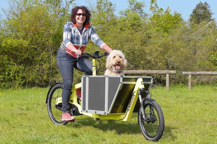 Hundetransport mit Lastenrad und Hundebox Kargon