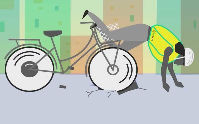 Airbag-Weste für Rad- und Pedelecfahrer