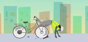 Helite Fahrradairbagsystem für Fahrradfahrer