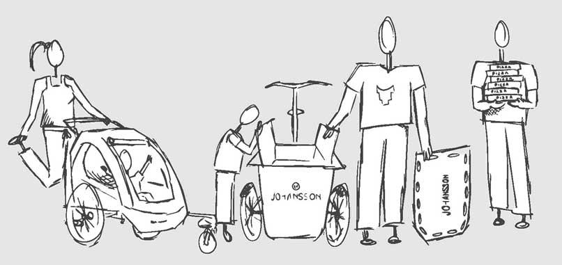 Johansson Lastenräder Anwendungsbereiche